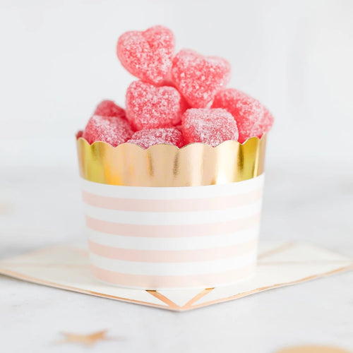 PINK AND GOLD CUPCAKE OR FOOD CUPS
