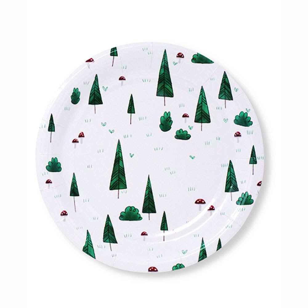 Woodland Print Small Paper Plates - Ellie and Piper