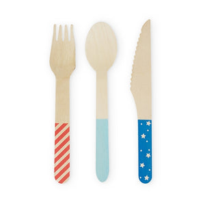 Assorted Stars & Stripes Cutlery - Ellie and Piper