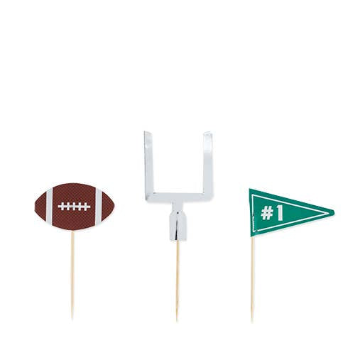 Assorted Football Tailgate Treat Picks - Ellie and Piper