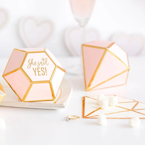 She Said Yes Diamond Favor Boxes - Ellie and Piper