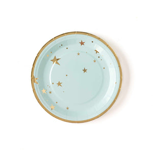 "Baby Blue Star 9"" Plates - Ellie and Piper"