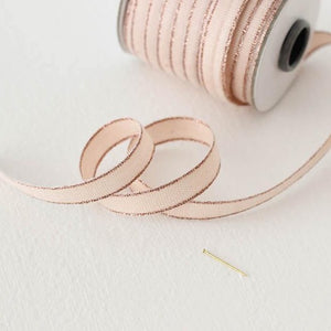 Drittofilo Cotton Ribbon - Blush/ Rose Gold Ellie & Piper Party Boutique