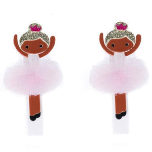 Light Pink Tutus Ballerina Alligator Hair Clips - Ellie and Piper