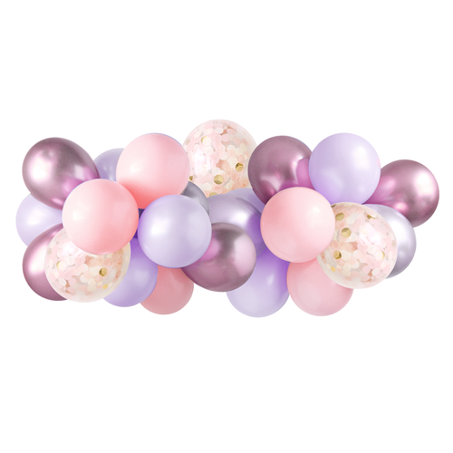 Balloon Garland - Lilac Rose