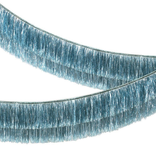 Blue Tinsel Fringe Garland - Ellie and Piper