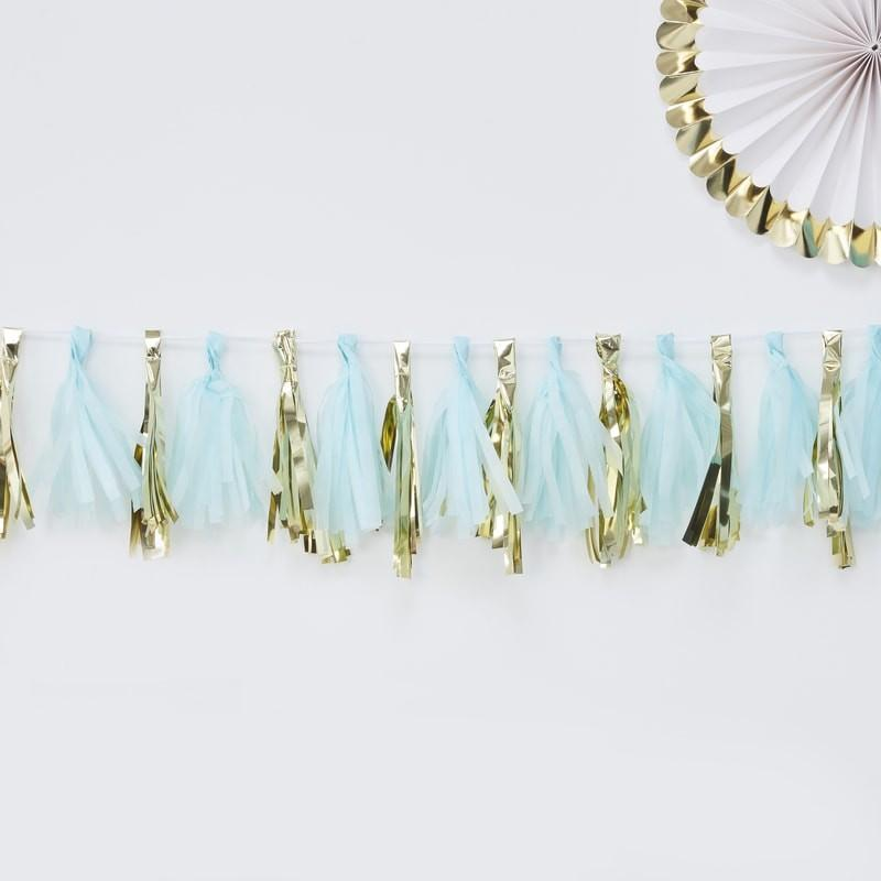 Blue and Gold Tassel Garland - Ellie and Piper