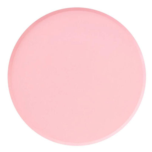 Blush Pink Large Paper Plates - Ellie and Piper