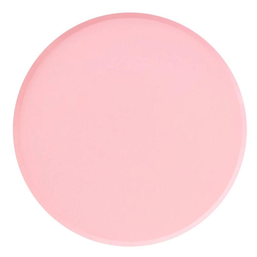 Blush Pink Large Paper Plates - Ellie and Piper Party Boutique