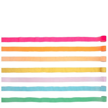 Bright Rainbow Crepe Paper Streamers - Ellie and Piper