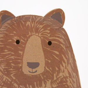 Brown Bear Large Plates - Ellie and Piper