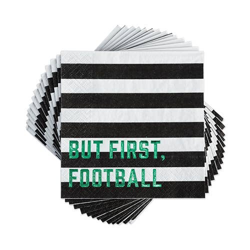 But First, Football Cocktail Napkins
