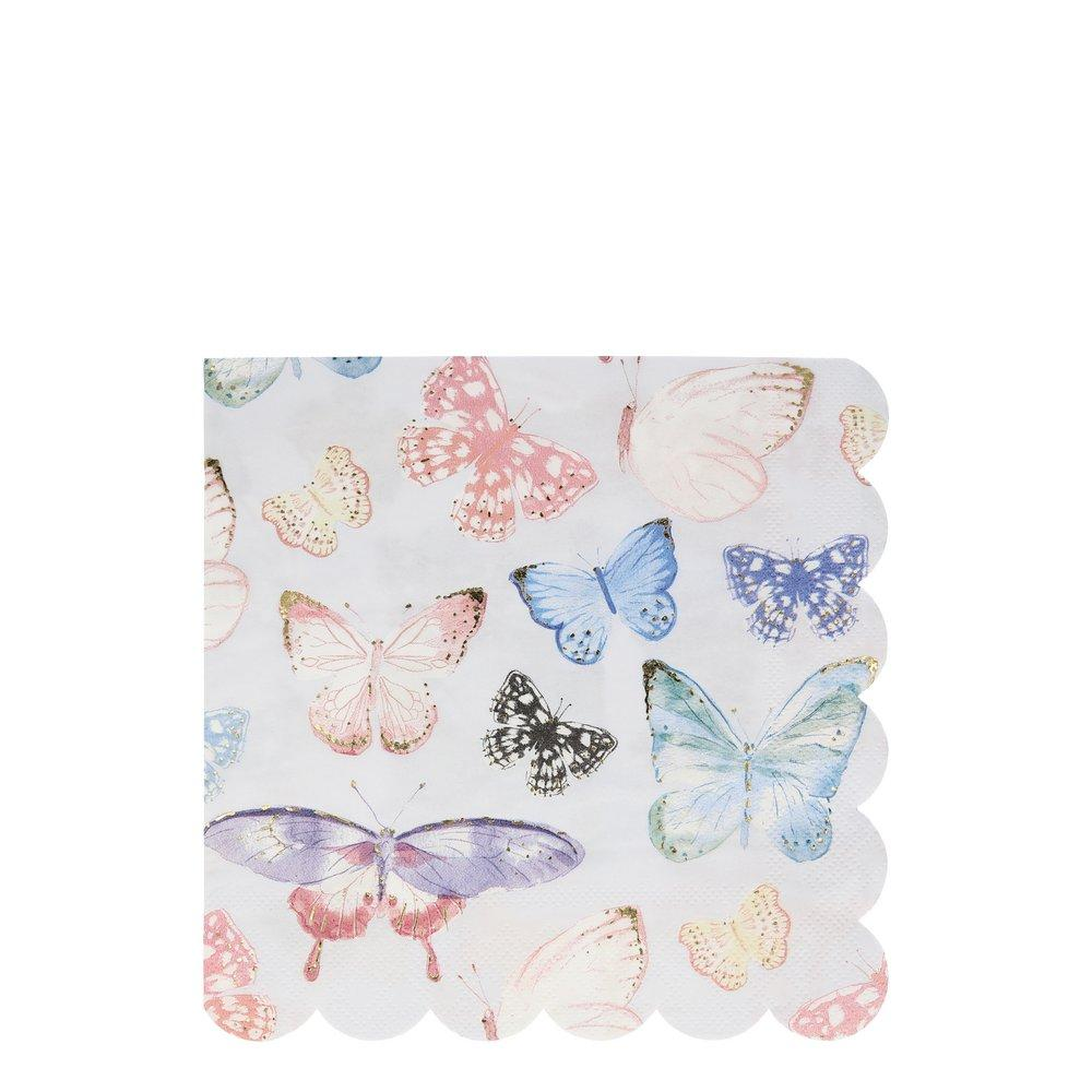 Butterfly Scallop Edge Large Napkins - Ellie and Piper