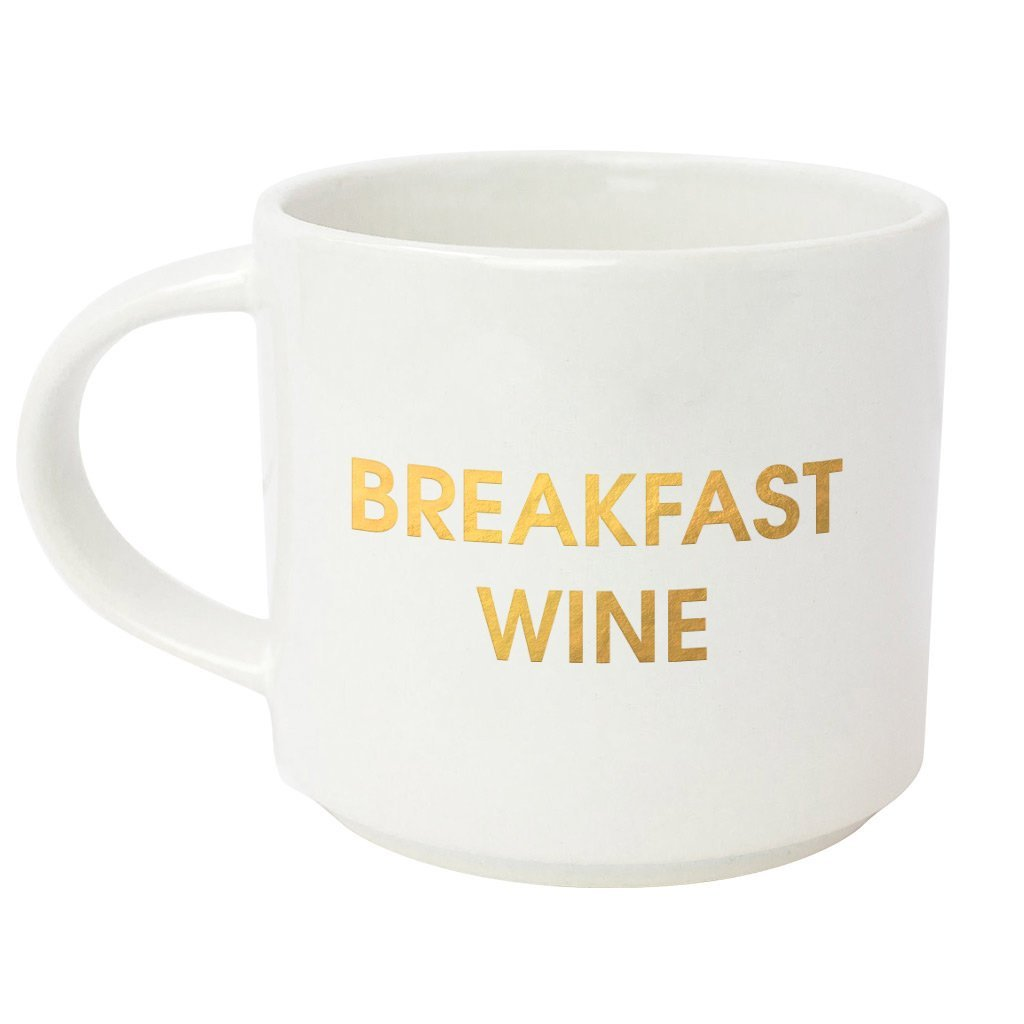 Breakfast Wine Gold Metallic Mug by Chez Gagne
