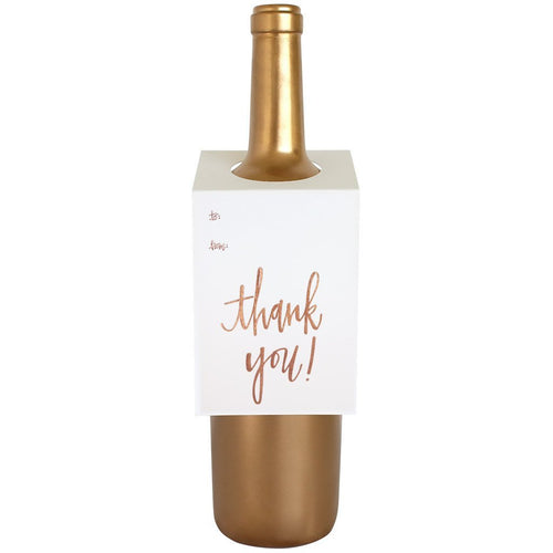 Thank You Script Wine & Spirit Tag by Chez Gagne