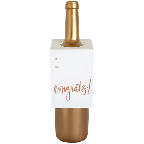 Congrats Script Wine & Spirit Tag by Chez Gagne - Ellie and Piper
