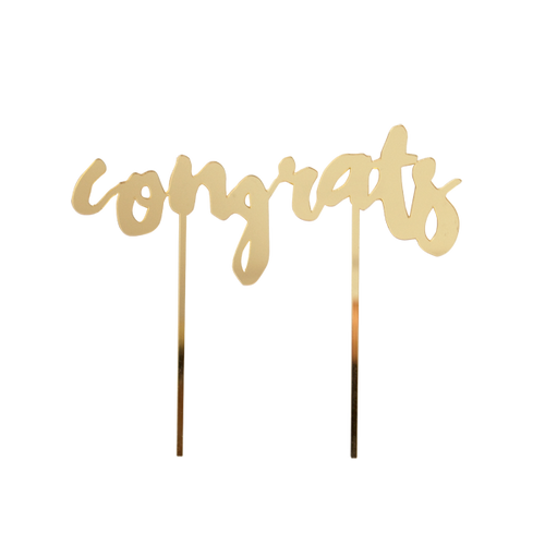Gold-Mirrored Cake Topper -