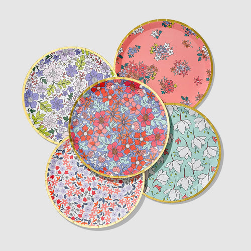 In Full Bloom Large Paper Plates - Ellie and Piper