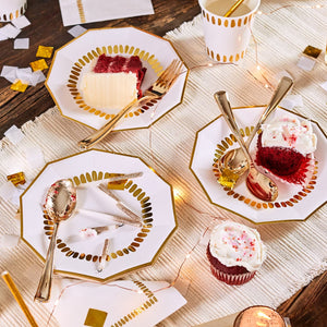 Brushstroke Gold and White Small Plates