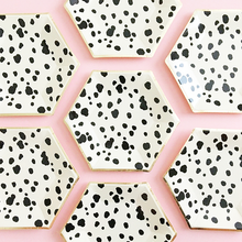Black and White Dalmatian Spots Small Paper Plates - Ellie and Piper