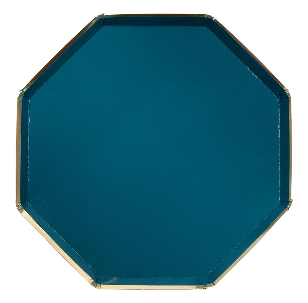 Dark Teal Paper Dinner Plates - Ellie and Piper