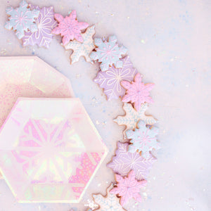 Frosted Snowflake Small Paper Plates - Ellie and Piper