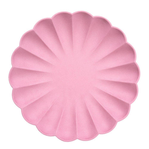Deep Pink Simply Eco Large Paper Plates - Ellie and Piper