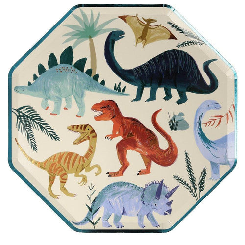 Dinosaur Kingdom Paper Dinner Plates - Ellie and Piper