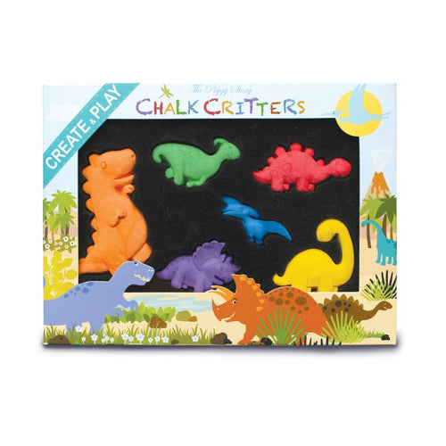 Dinosaur World Chalk Critters Set - Ellie and Piper