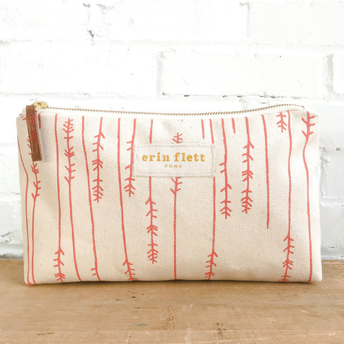 Erin Flett Coral Twigs Jen Zipper Bag Ellie & Piper Party Boutique