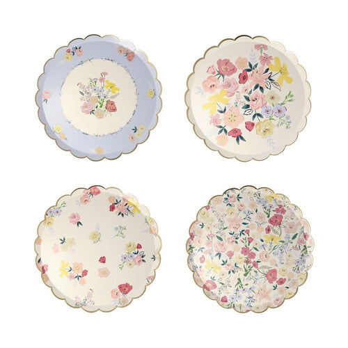 English Garden Side Paper Plates - Ellie and Piper