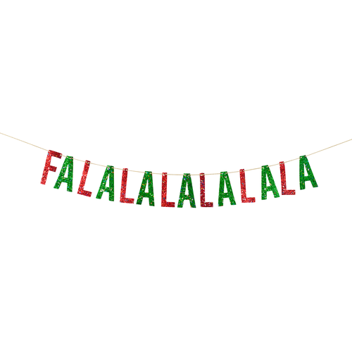FaLaLaLaLaLaLa Christmas Banner Ellie & Piper Party Boutique