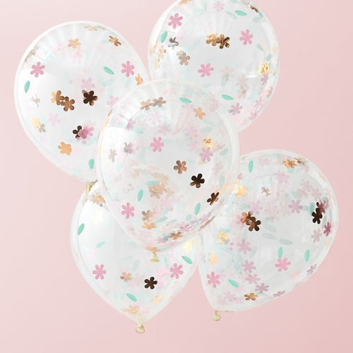 Floral Confetti Filled Balloons - Ellie and Piper