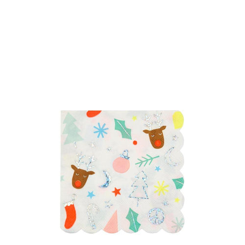 Christmas Icons Small Napkins