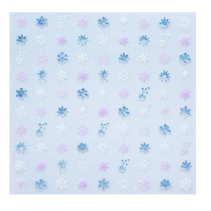 Frosted Snowflake Nail Stickers - Ellie and Piper