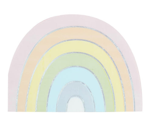 Pastel Rainbow Shaped Iridescent Foiled Paper Napkins Ellie & Piper Party Boutique