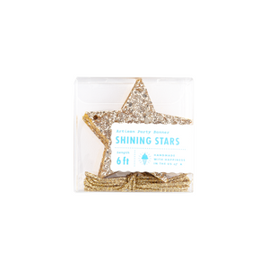 Gold Glitter Shining Stars Garland - Ellie and Piper
