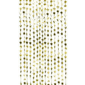 Gold Foil Star Party Backdrop - Ellie and Piper