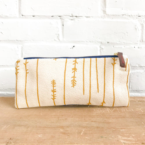 Erin Flett Gold Twigs Pencil Zipper Bag - Ellie and Piper
