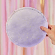 Lilac Purple Ombre Watercolor Large Paper Plates - Ellie and Piper