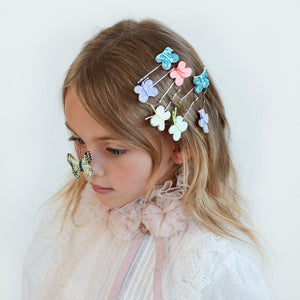 Glitter Butterfly Hair Slides - Ellie and Piper