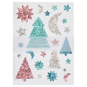 Glitter Festive Icons Sticker Sheets