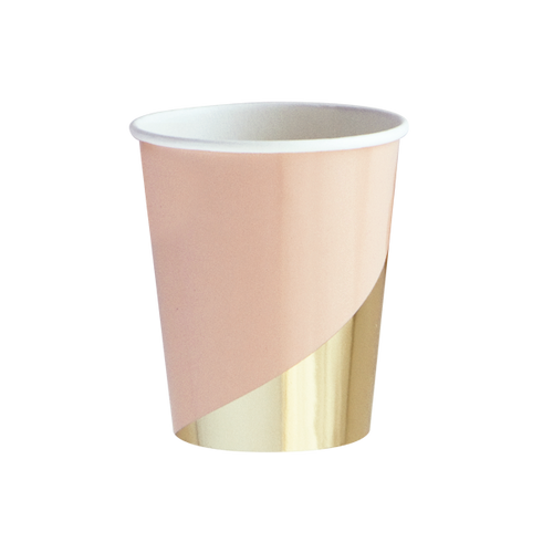 Goddess Peach Blush Colorblock Paper Cups