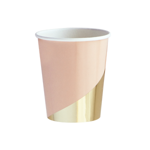 Harlow and Grey Goddess Peach Blush Colorblock Paper Cups