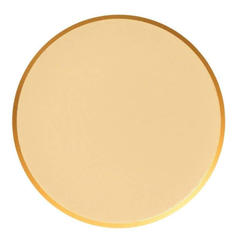 Metallic Gold Large Paper Plates (2 sizes) - Ellie and Piper