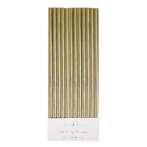 Gold Foil Party Straws - Ellie and Piper
