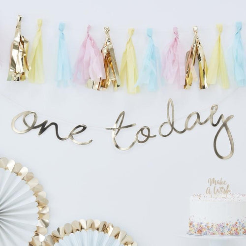 One Today first birthday 1st banner garland ginger ray celebration Ellie and piper party boutique