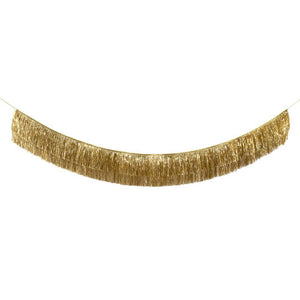 Gold Tinsel Fringe Garland - Ellie and Piper