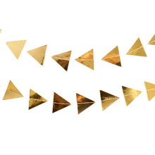 Gold Triangles Garland - Ellie and Piper