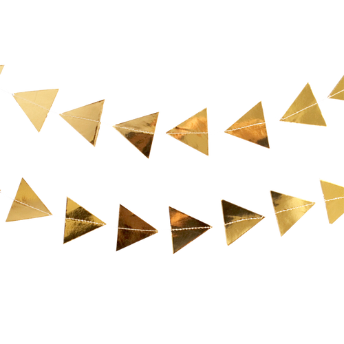 Harlow and Grey Gold Triangles Garland